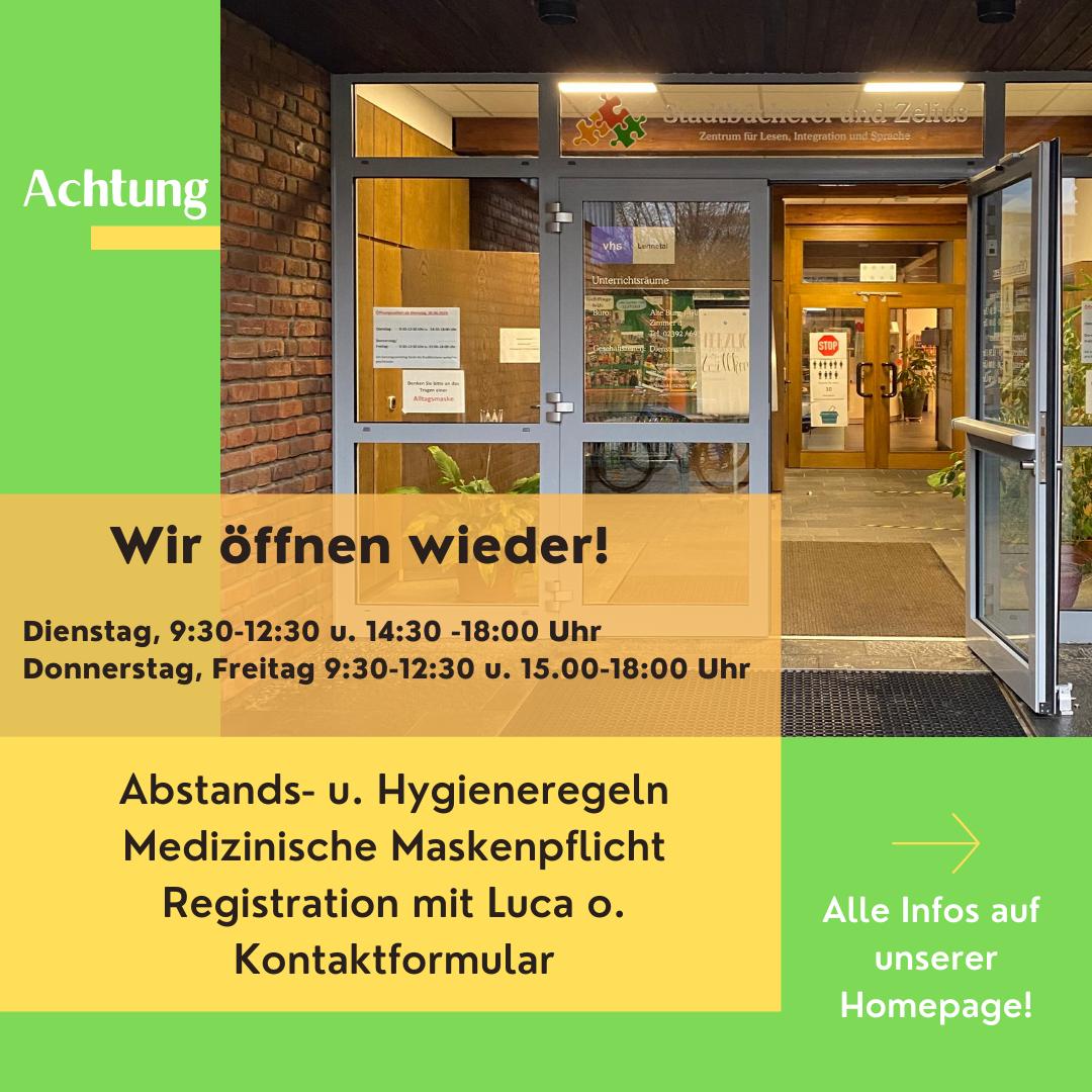 {#Öffnung Stadtbücherei}